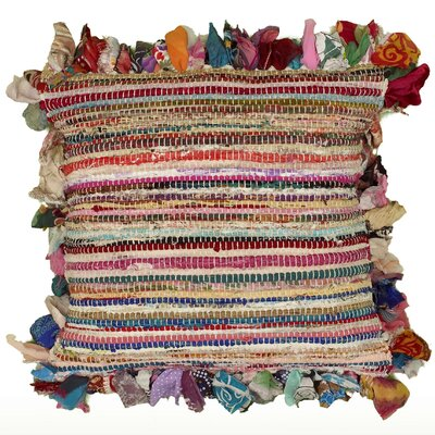 Mirabella Accent Chindi Cotton Throw Pillow
