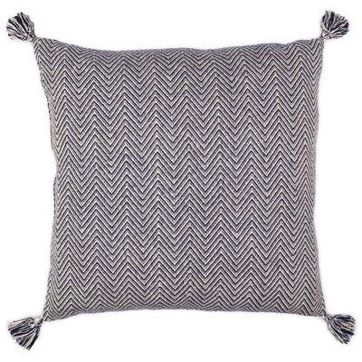 Cottonwood Chevron Cotton Floor Pillow Color: Navy Blue