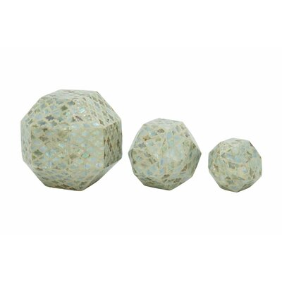 Riordan 3 Piece Decorative Ceramic Mop Sphere Set