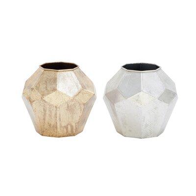 Alpina 2 Piece Geometric Table Vase (Set of 2)