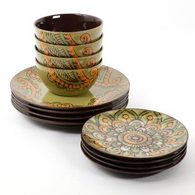 Penelope Floral 12 Piece Dinnerware Set
