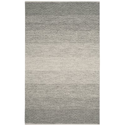 Figuig Hand-Woven Black/Ivory Area Rug Rug Size: Rectangle 4 x 6