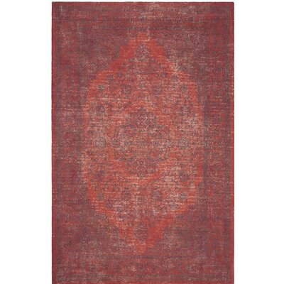 Thompson La Foa Red Area Rug Rug Size: Round 6