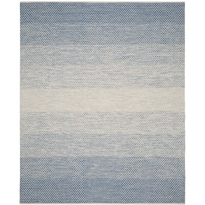 Saleem Hand-Woven Blue/Ivory Area Rug Rug Size: Rectangle 5 x 8