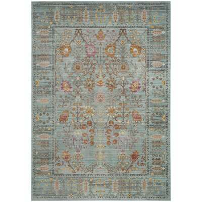 Sanatorium Blue/Gray Area Rug Rug Size: Rectangle 2 x 3