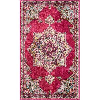 Charleena Pink Area Rug Rug Size: 33 x 53