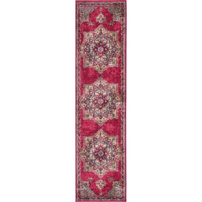 Charleena Pink Area Rug Rug Size: Runner 27 x 10