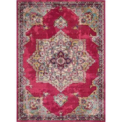 Fujii Pink Area Rug Rug Size: 9' x 12'