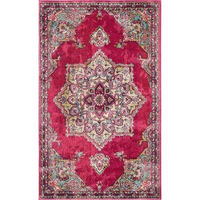 Charleena Pink Area Rug Rug Size: 5 x 8