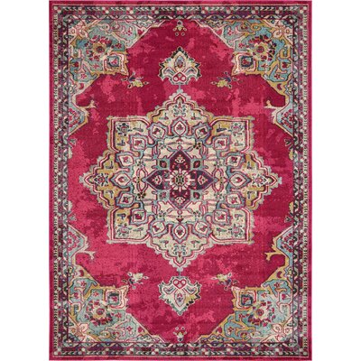Charleena Pink Area Rug Rug Size: Rectangle 7 x 10