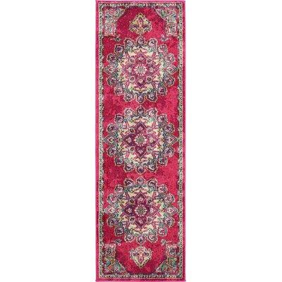 Charleena Pink Area Rug Rug Size: Runner 22 x 67