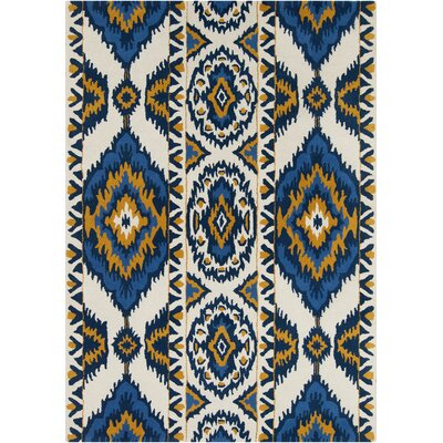 Boukra White Abstract Rug Rug Size: 5' x 7'