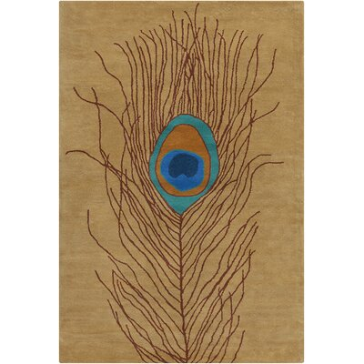 Inara Hand Tufted Wool Brown/Blue Area Rug