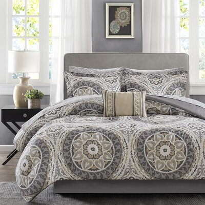 Taddart Comforter Set Size: Queen, Color: Taupe