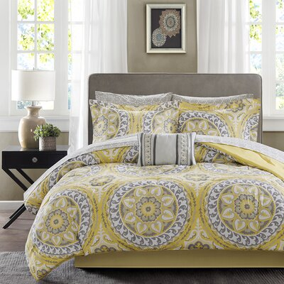 Taddart Comforter Set Size: Queen, Color: Yellow