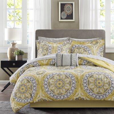 Taddart Comforter Set Size: King, Color: Yellow