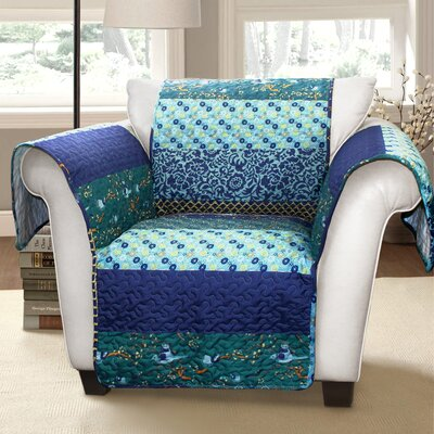 Quentin Armchair Protector Color: Blue Multi