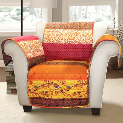 Somerton Armchair Protector Color: Orange Multi