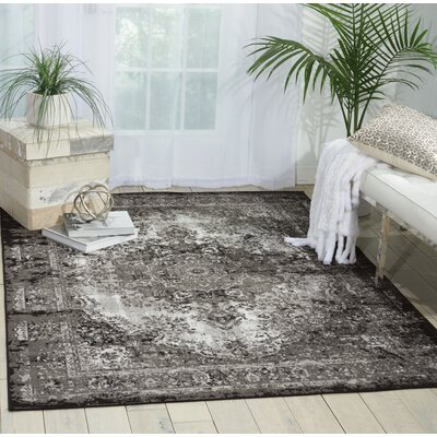 Star Black/Gray Area Rug Rug Size: 53 x 73