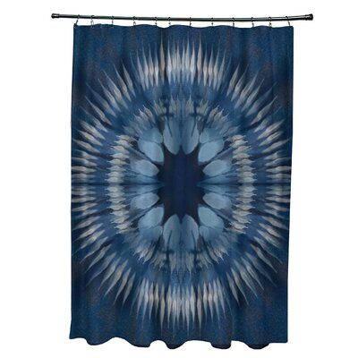 Armstrong Shibori Burst Shower Curtain Color: Navy Blue