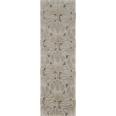 Allen Hand-Tufted Green/Beige Area Rug Rug Size: Rectangle 5 x 76