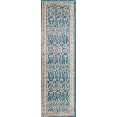 Scarlett Blue Area Rug Rug Size: Rectangle 53 x 76