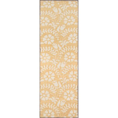 Aliyah Hand-Tufted�Yellow Area Rug Rug Size: 39 x 59