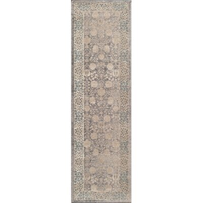 Scarlett Silver Area Rug Rug Size: Rectangle 53 x 76