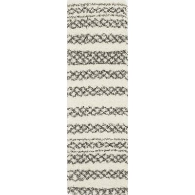 Damiane�Ivory/Black Area Rug Rug Size: Rectangle 53 x 76
