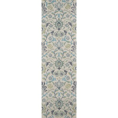 Anaya Hand-Tufted�Blue Area Rug Rug Size: Runner 23 x 8