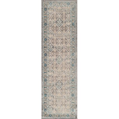 Scarlett Taupe/Blue Area Rug Rug Size: Rectangle 2 x 3