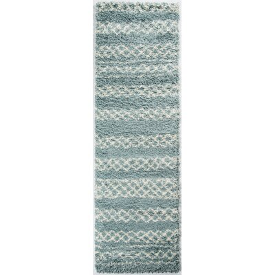 Damiane Blue Area Rug Rug Size: Rectangle 53 x 76