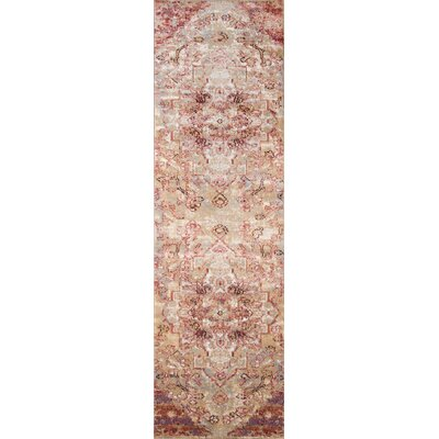 Salena Red/Tan Area Rug Rug Size: Runner 2'3