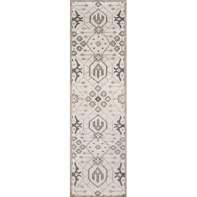 Zoey Hand-Knotted Gray Area Rug Rug Size: Runner 23 x 8