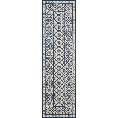 Anaya Hand-Tufted Blue Area Rug Rug Size: Runner 23 x 8