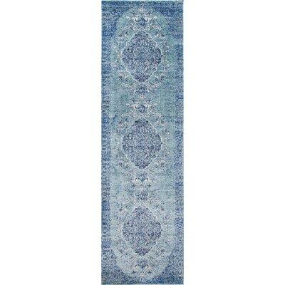 Salena Teal/Ivory Area Rug Rug Size: Runner 23 x 76