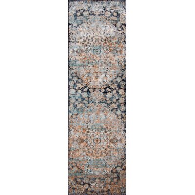 Salena Blue Area Rug Rug Size: Runner 23 x 76