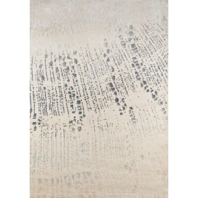 Danny Abstract Gray/Ivory Area Rug Rug Size: 53 x 76