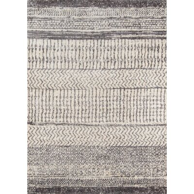Danny Gray/Ivory Area Rug Rug Size: Rectangle 93 x 126