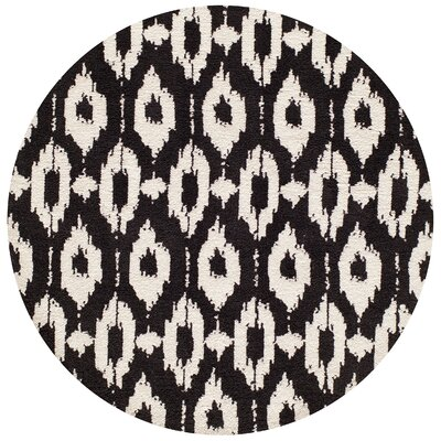 Ambrose Hand-Tufted Black/Gray Area Rug Rug Size: Rectangle 76 x 96