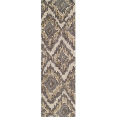 Ambrose Hand-Tufted Brown/Gray Area Rug Rug Size: Runner 23 x 8