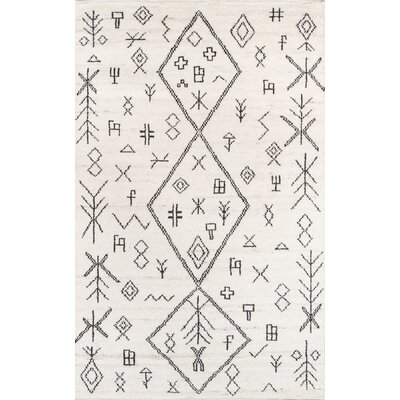 Allens Hand-Knotted Natural Area Rug Rug Size: Rectangle 5 x 8