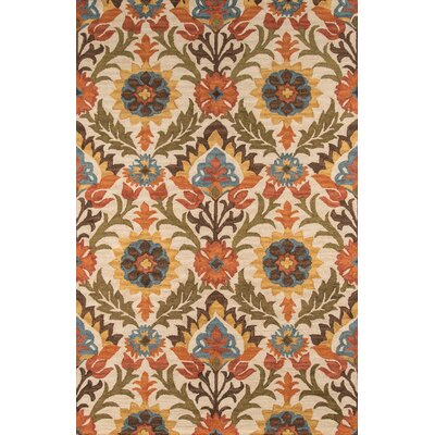 Shah Hand-Tufted Gold Area Rug Rug Size: Rectangle 96 x 136
