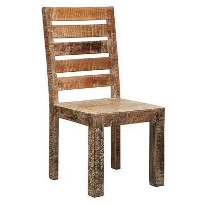 Arakaki Solid Wood Dining Chair (Set of 2) Finish: Lime Wash