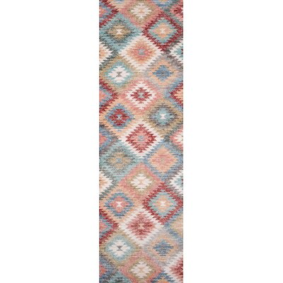 Mount Zion Blue/Red Area Rug Rug Size: Runner 23 x 8