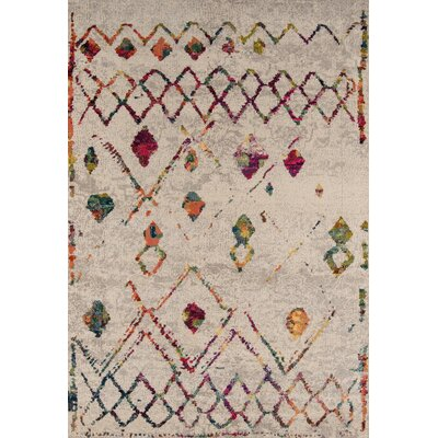 Denissa Beige Area Rug Rug Size: Rectangle 53 x 76