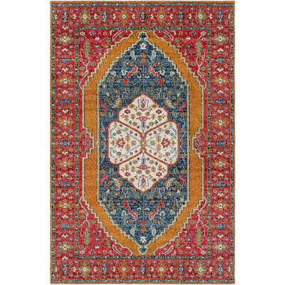 Nichole Red Area Rug Rug Size: Rectangle 2 x 3