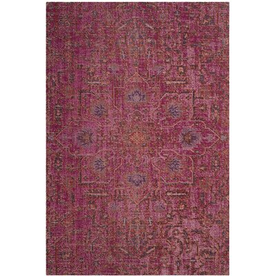 Manya Rectangle Pink Area Rug Rug Size: 4 x 6