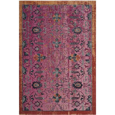 Manya Cotton Pink Area Rug Rug Size: Runner 22 x 8