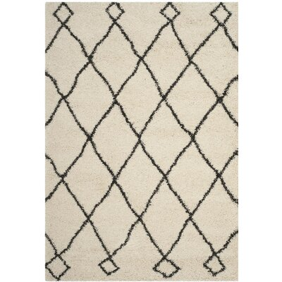 Hester Beige/Black Area Rug Rug Size: Rectangle 8 x 10